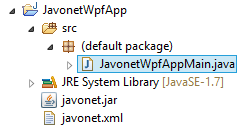 JavonetWpfAppProjectView