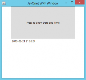 Java Application With WPF Interface