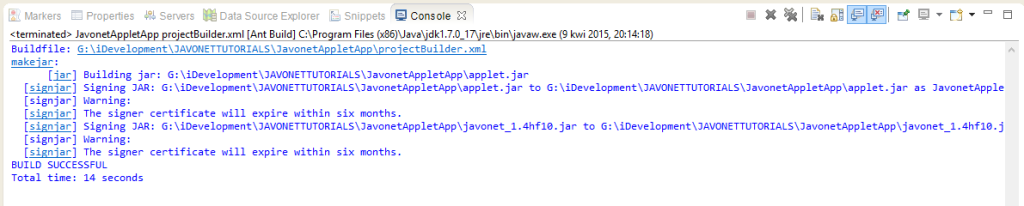 Output of building Java Applet with .NET DLLs